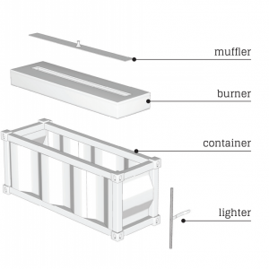 Container Fireplace